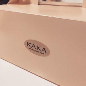 KAKAチーズケーキの箱